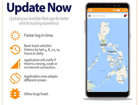 Update Me: trackMe Fleet Mobile App Update