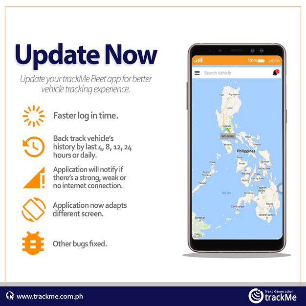 Update Me: trackMe Fleet Mobile App Update