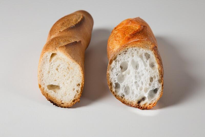 A destra con Swisszyme a sinistra standard