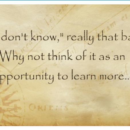 'I Don't Know' and Other Educator Truths