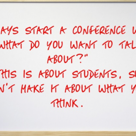 Preparing for In-Class Conferences About Learning
