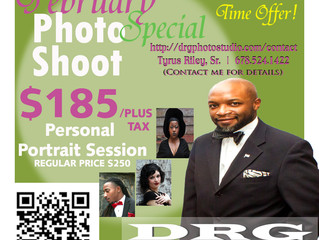 February Photo Shoot Offer...