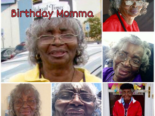 "Happy ""84"" HeavenlyBirthday Momma"