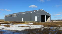 New lambing barn and shop.