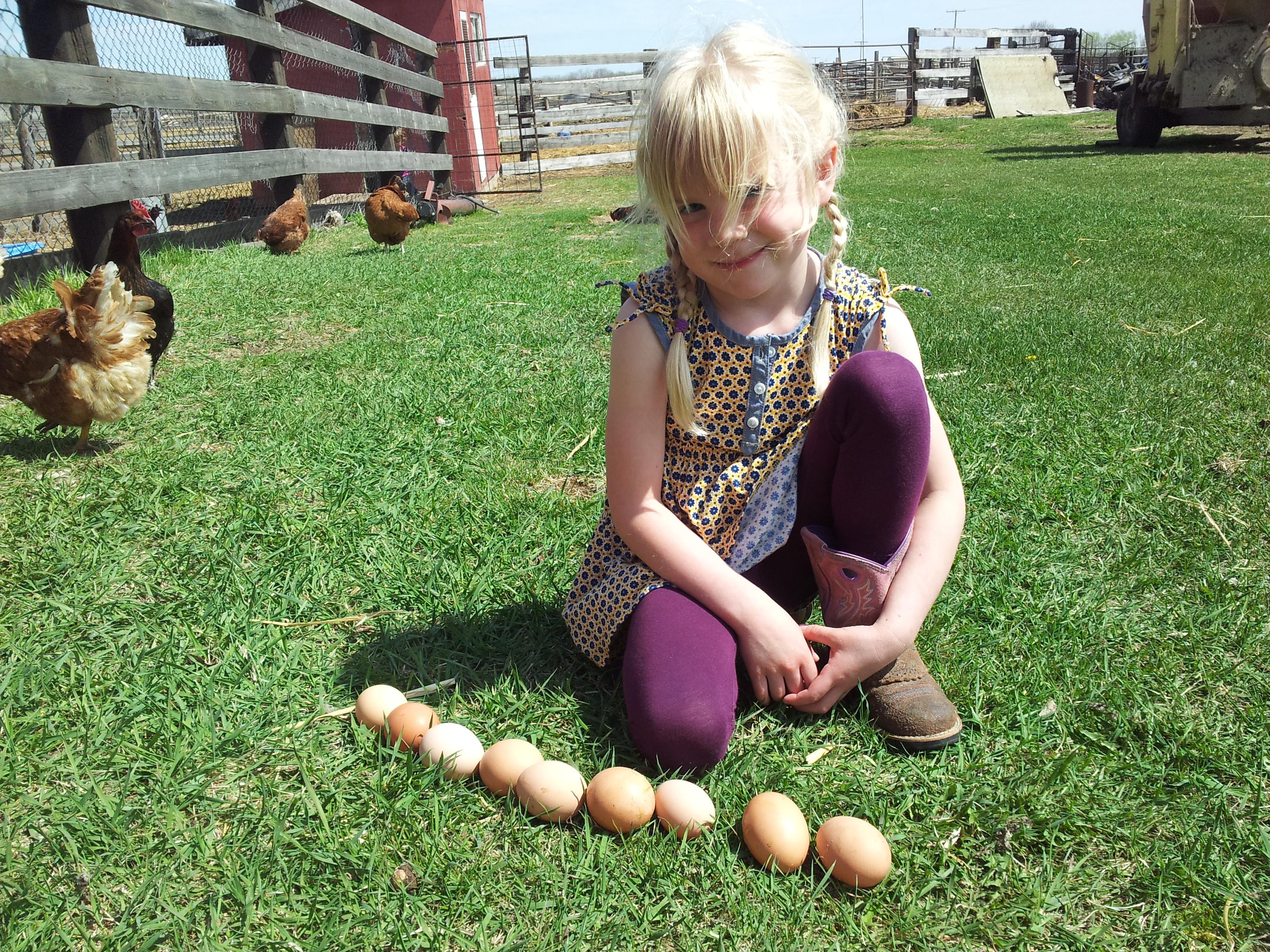 Jessie loves her hens.