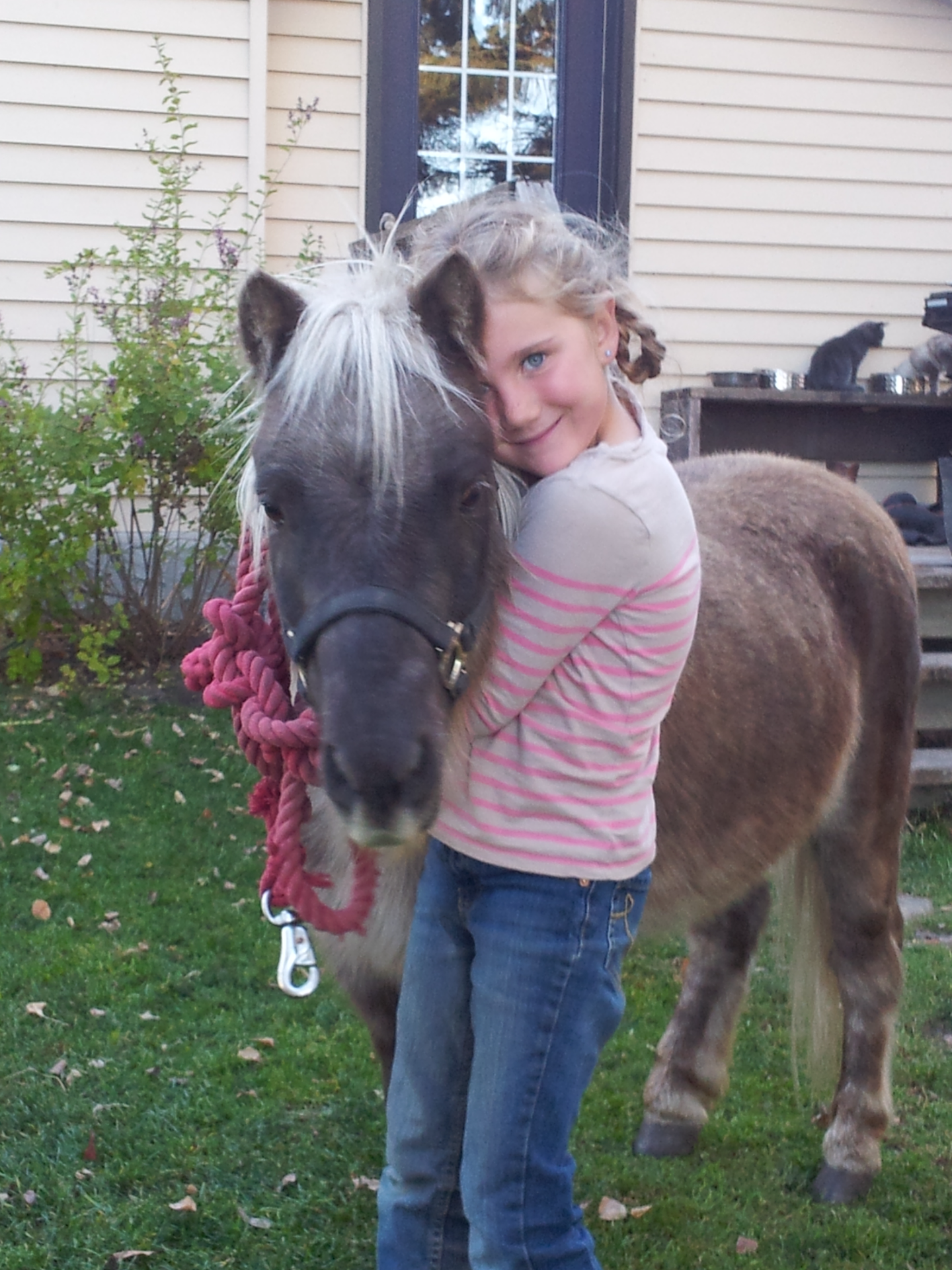 Lucy and her new pony