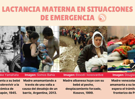 Lactancia materna en situaciones de emergencia