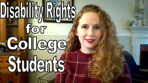 Video & Transcript: Disability Rights for College Students