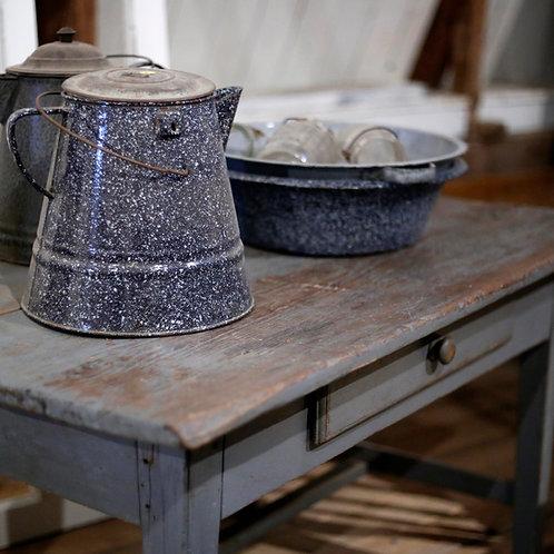 Bouilloire en granite bleue