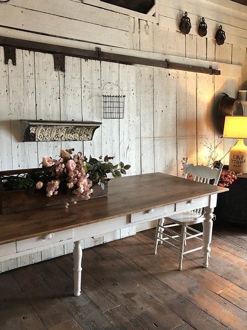 Table de réfectoire 5 tiroirs Vendu-sold