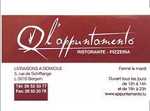 Le Restaurant L'APPUNTAMENTO Bergem