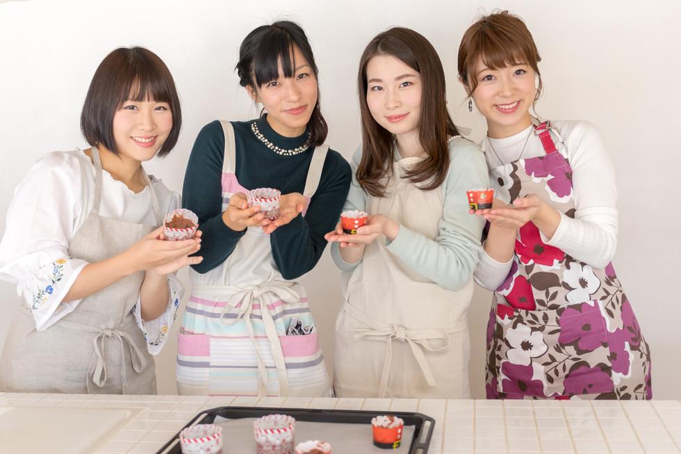 バレンタイン&お菓子作りイメージ撮影