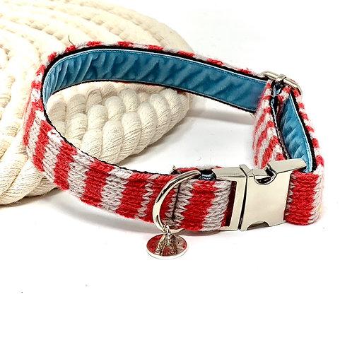 Geranium & Dove - Wallie Design - Dog Collar