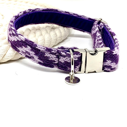 Purple & Lilac - Barclay Design - Dog Collar