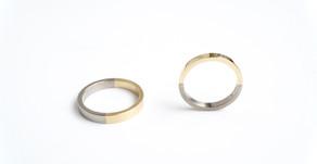 marriage ring - half & half