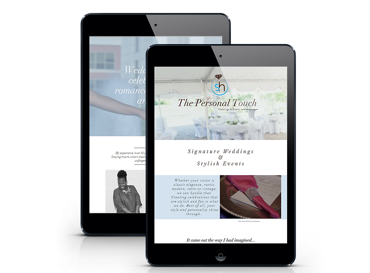 the personal touch wedding - ipad mini.p