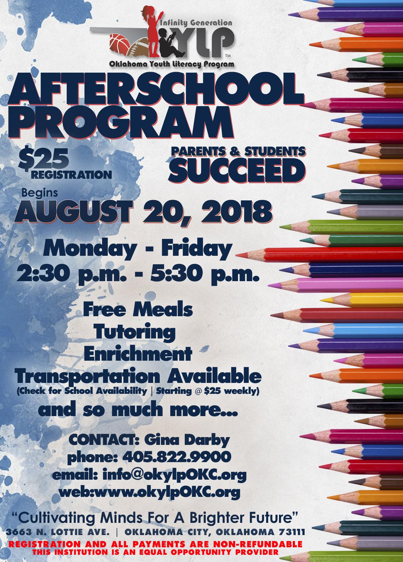 okylp afterschool program 2018