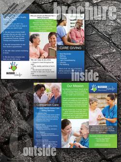 blessed hands sitting brochure mockup