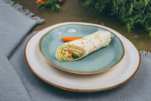 Spinat, Karotten, Hummus