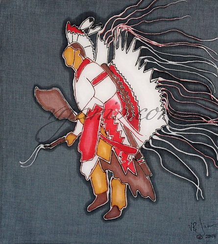 Native American Traditional Dancer Batik Painting