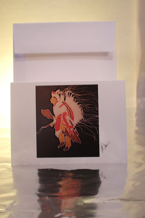Native American Traditional Dancer Greeting Card