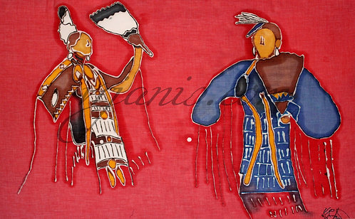 Native American Traditional Dancer Batik Painting