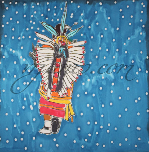 Native American Butterfly Dancer Batik Painting