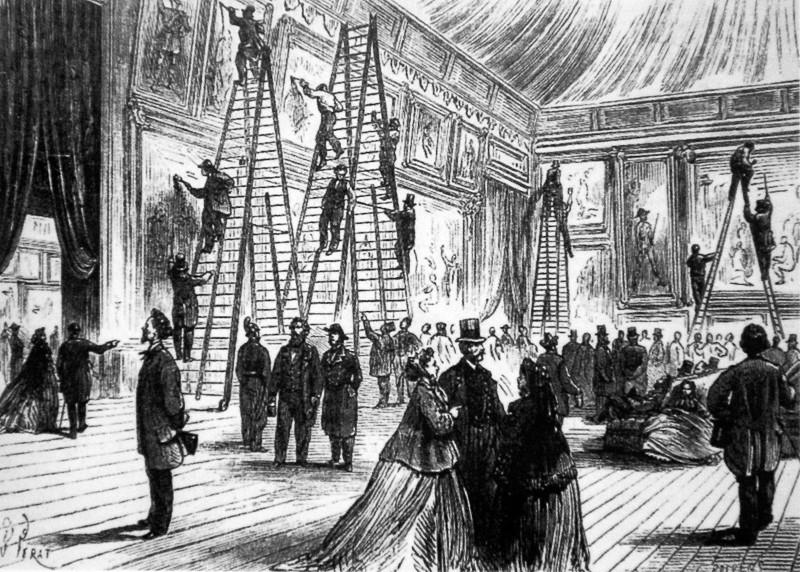 Vernissage em paris, 1866.