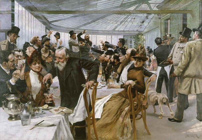 Vernissage em Paris, 1886.