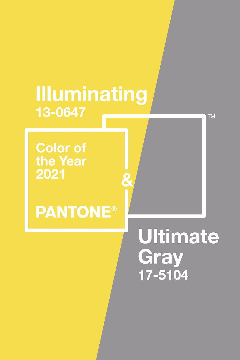 Cores do ano 2021 Pantone