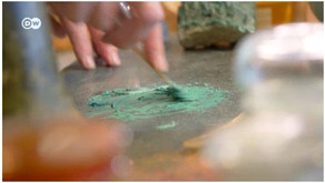 A fabricação de tinta a óleo séculos atrás