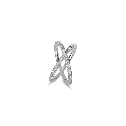 XOXO White Gold Ring