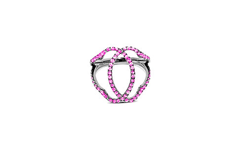 Marrakesh Pink Sapphire Silver Ring
