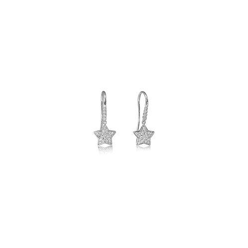 Happy Star Diamond White Gold Earrings
