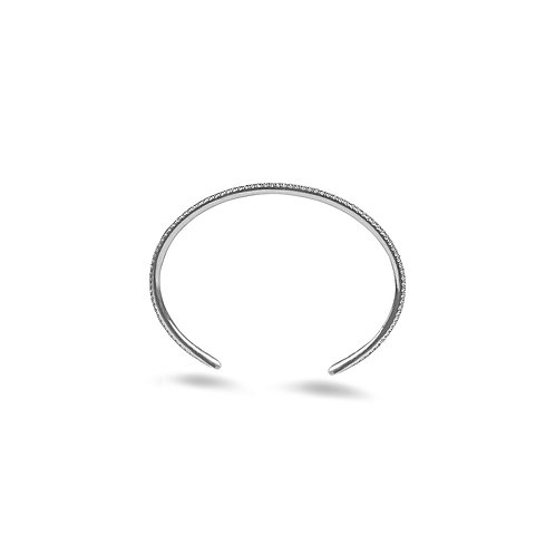XOXO White Gold Diamond Cuff