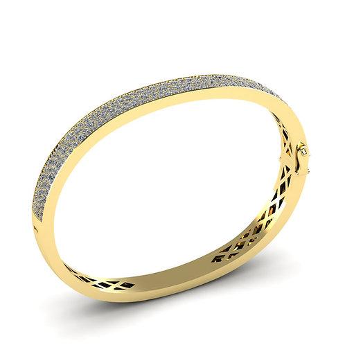 The Diamond Cuff Yellow Gold