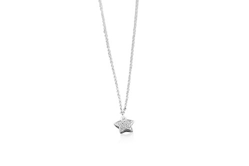 Happy Star Diamond White Gold Necklace
