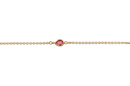 La Poire Rose Pink Sapphire Rose Gold Bracelet