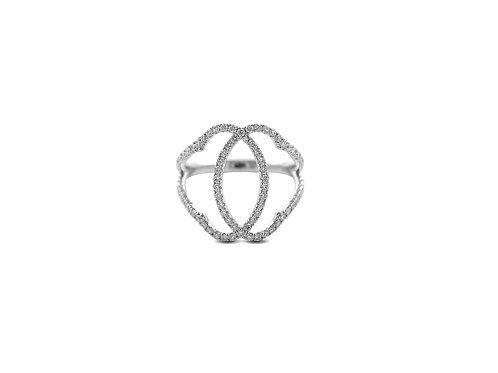 Marrakesh White Diamond White Gold Ring
