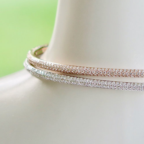 Skinny Diamond Cuff Rose Gold