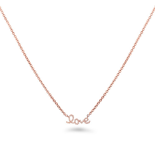 Baby Love Pink Sapphire Rose Gold Necklace