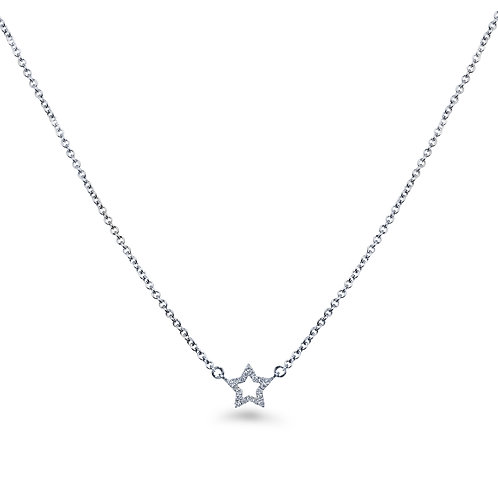 Baby Star White Gold Diamond Necklace