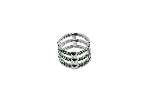 Coquette Tsavorite Silver Ring