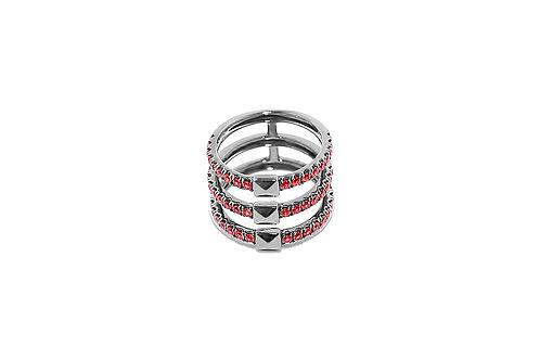 Coquette Ruby Silver Ring