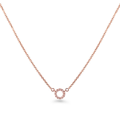 Baby Circle Rose Gold Necklace