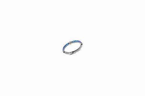 Rockstud Blue Sapphire Silver Eternity Ring