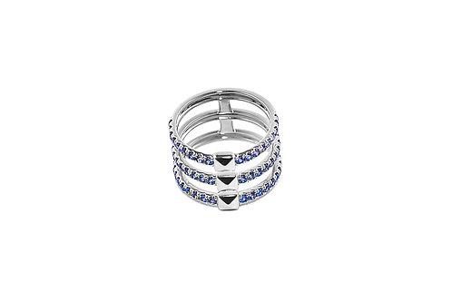 Coquette Blue Sapphire Silver Ring