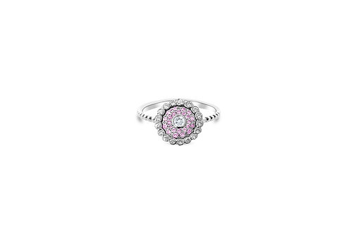 Evil Eye Ring Light Pink Sapphire
