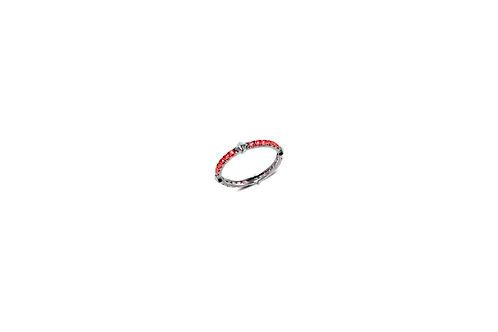 Rockstud Ruby Silver Eternity Ring