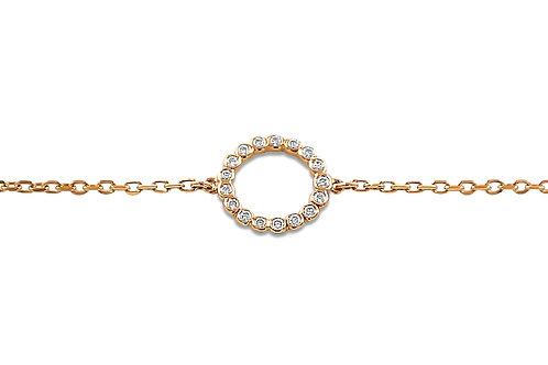 Circle Diamond Rose Gold Bracelet
